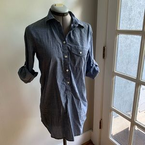 J Crew roll up chambray button up shirt/tunic, XXS